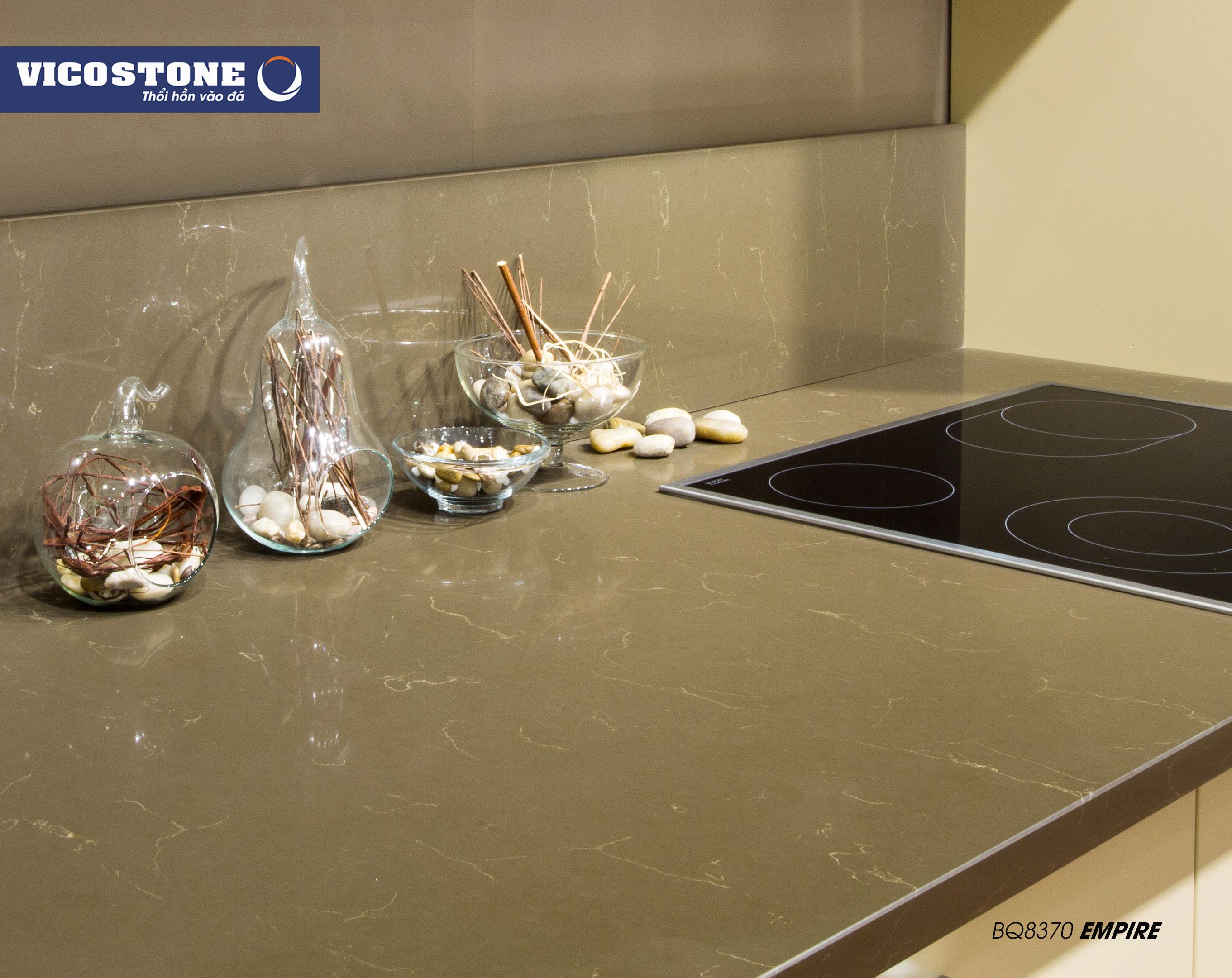 Mẫu đá bàn bếp VICOSTONE EMPIRE BQ8370