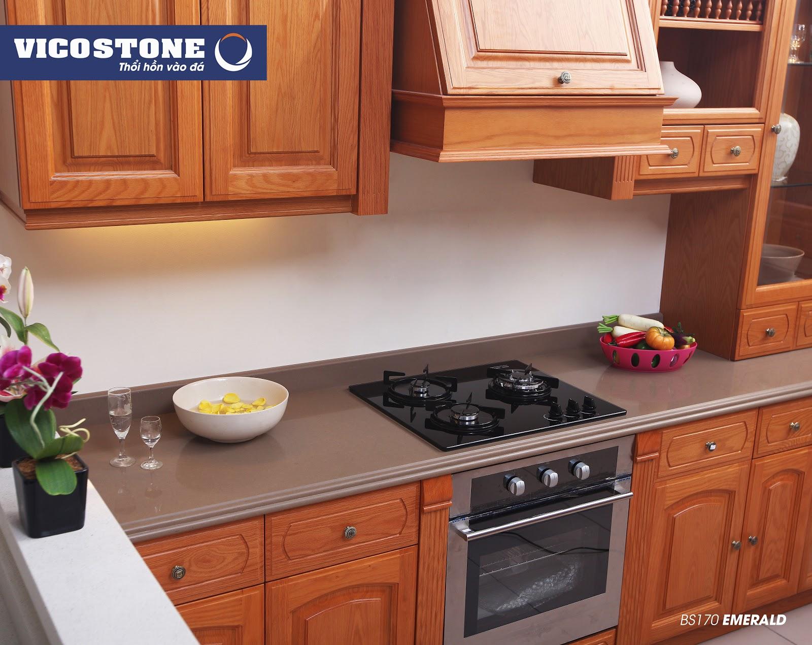 Mẫu đá bàn bếp VICOSTONE EMERALD BS170