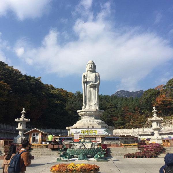 Bức tượng Phật bằng đá lớn nhất ở chùa Donghwasa